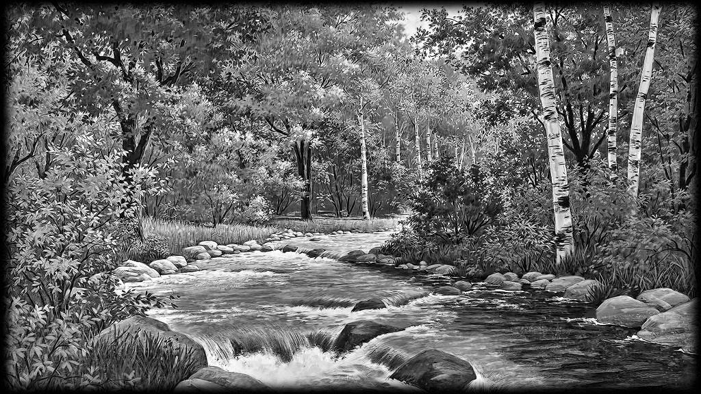 Деревенский пейзаж с цветущими садами фото эту надпись