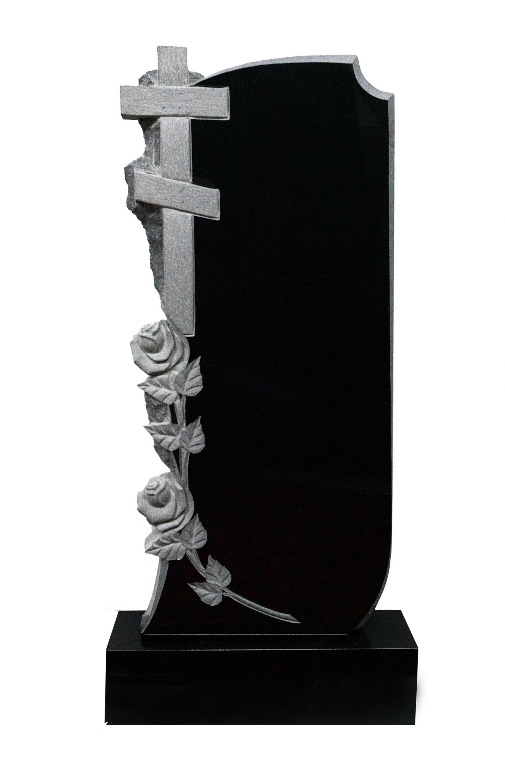 Вертикальный резной памятник Р006