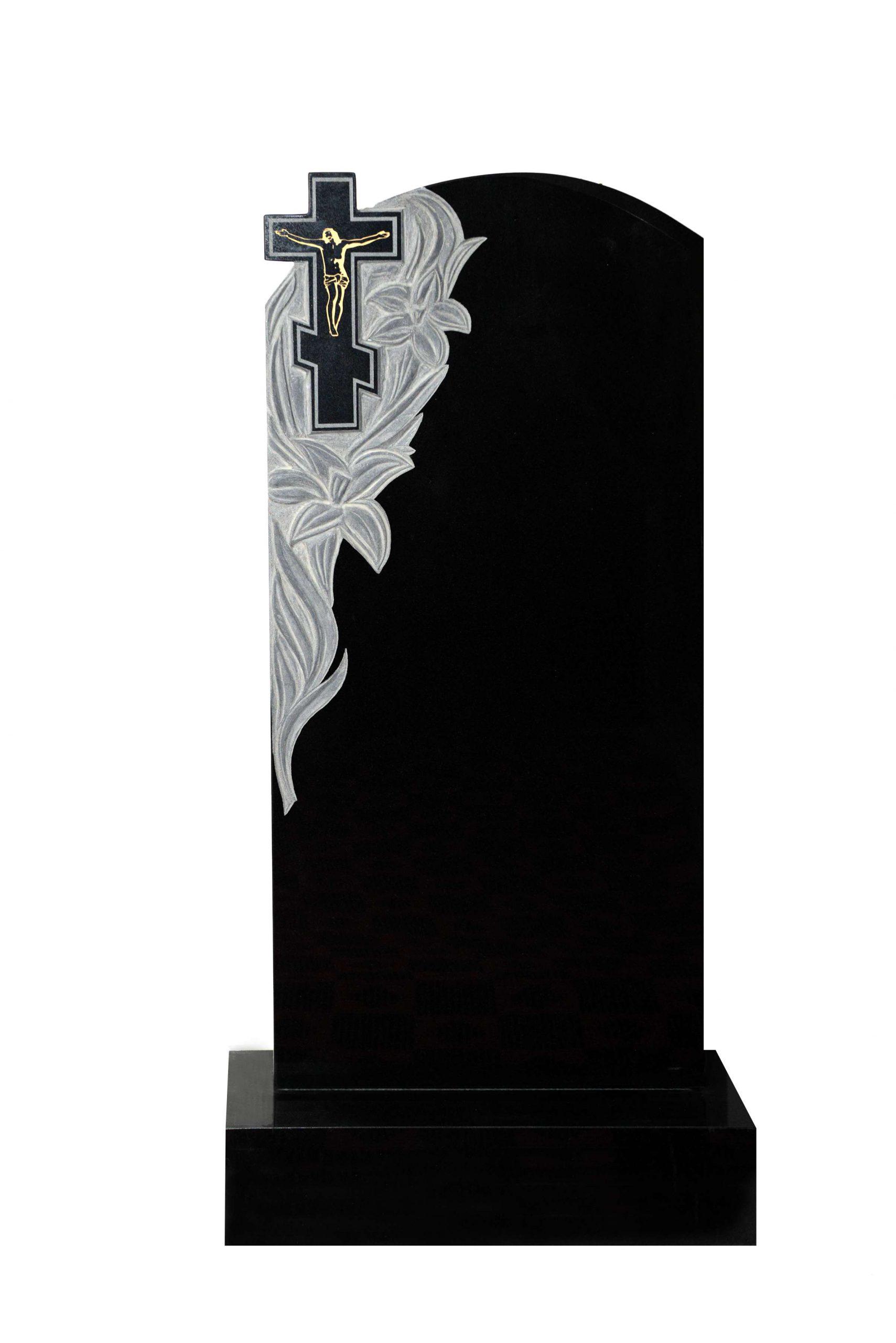 Вертикальный резной памятник Р009