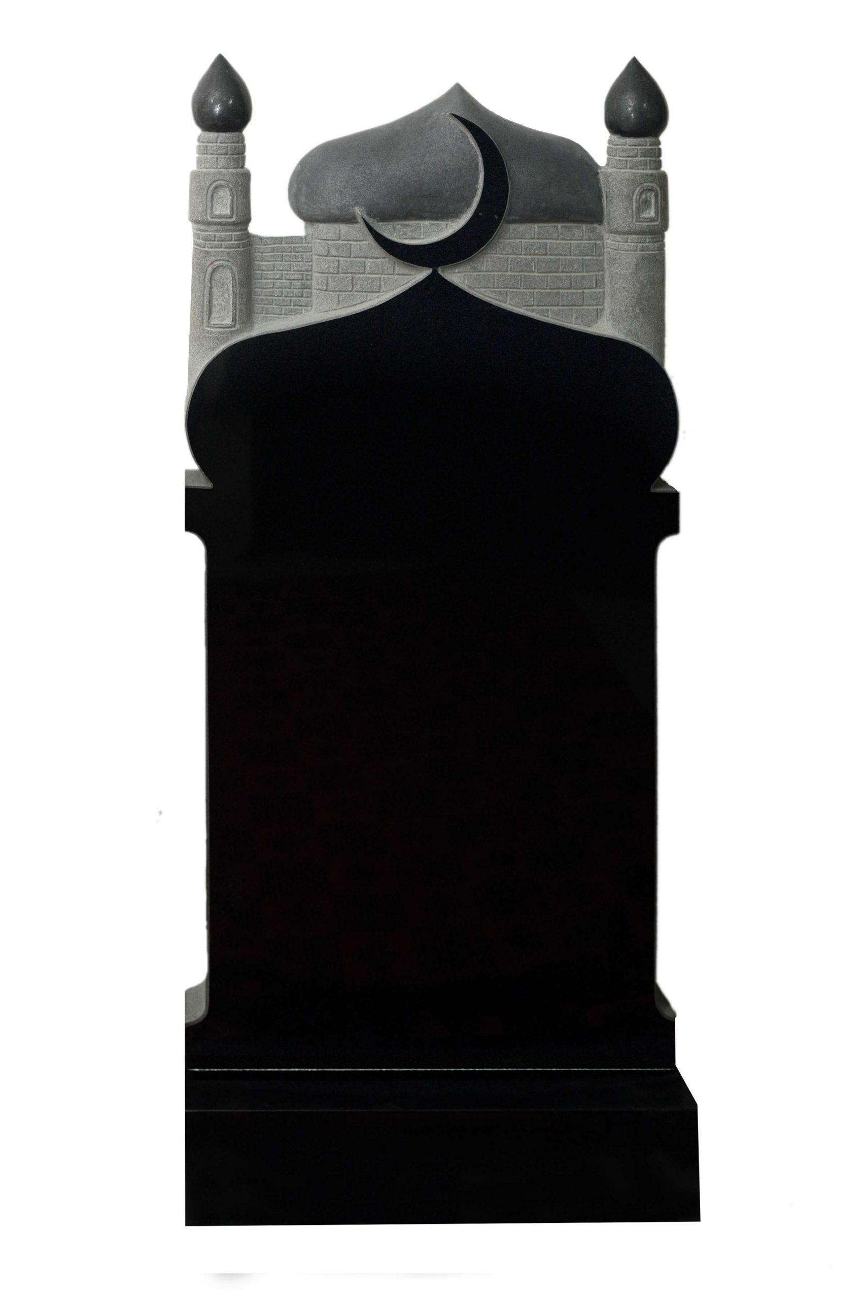 Вертикальный резной памятник Р011