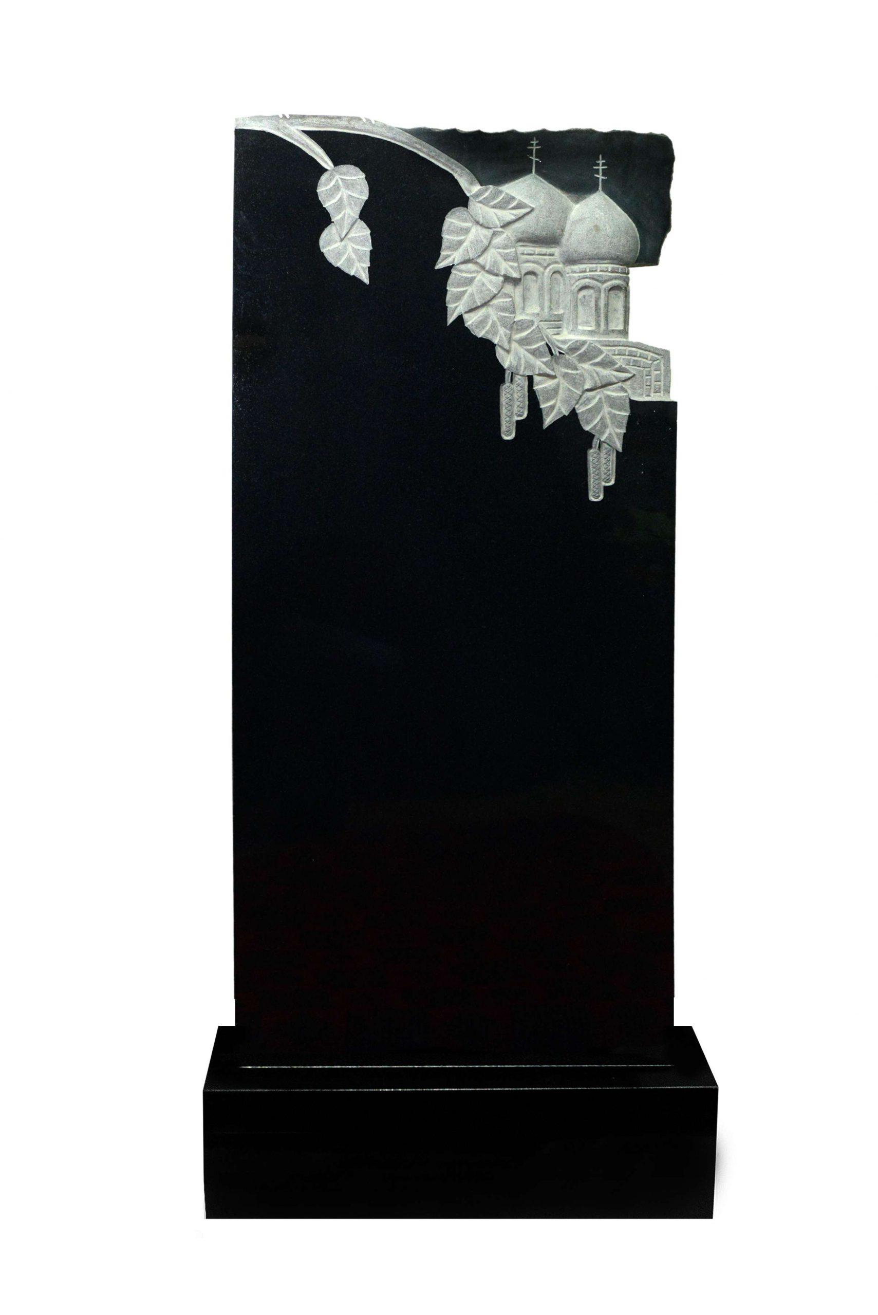 Вертикальный резной памятник Р020