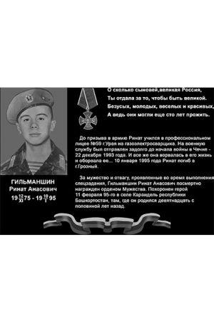 Мемориальная плита для военнослужащих